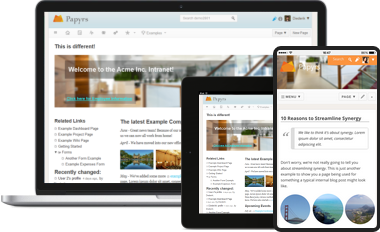 Mobile intranet & wiki