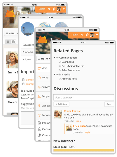 Simple Responsive Intranet Examples